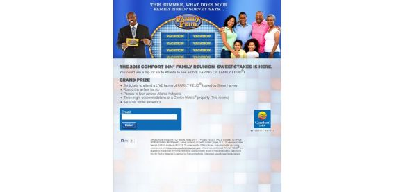 Comfort Inn Family Reunion Sweepstakes