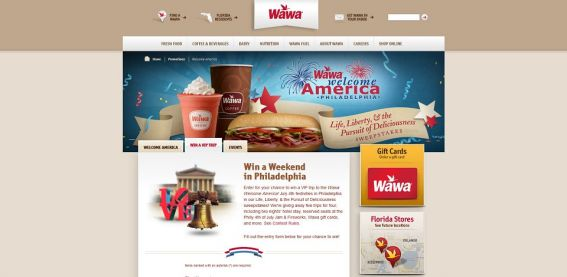 Wawa Welcome America! Life, Liberty, and the Pursuit of Delicious Sweepstakes