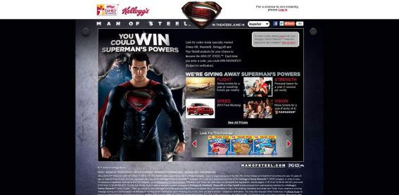KelloggsFamilyRewards.com/ManOfSteel – Kellogg's Snacks Man of Steel Instant Win Game