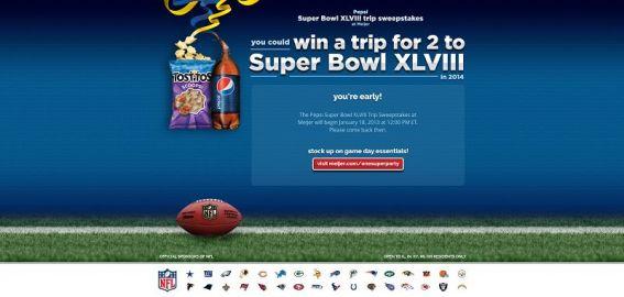 Pepsi Super Bowl XLVIII Trip Sweepstakes