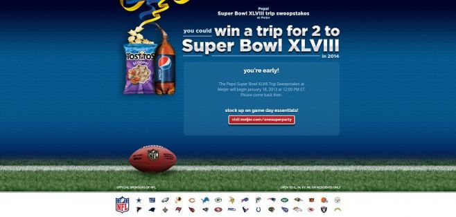 Pepsi Super Bowl XLVIII Trip Sweepstakes