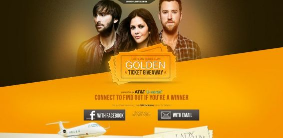 ladyagoldenticketgame.com – Lady Antebellum GOLDEN Ticket Game