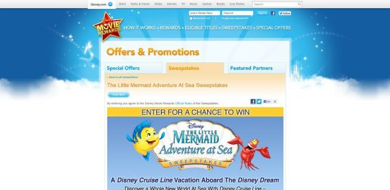 The Little Mermaid Adventure At Sea Sweepstakes
