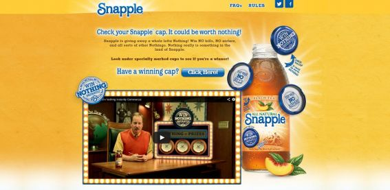 snapple.com/nothing – Snapple Win Nothing Sweepstakes