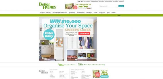 BHG $10,000 Organize Your Space Sweepstakes