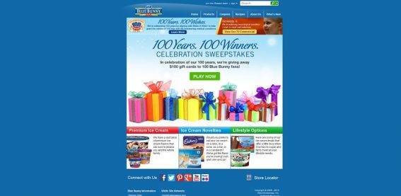 Blue Bunny 100 Years, 100 Winners Promotion