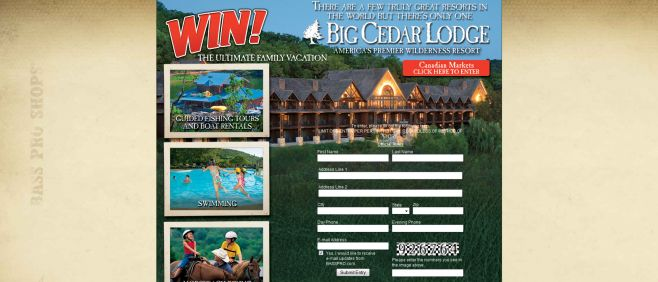 Bass Pro Shops You Could Win a Big Cedar Lodge Ultimate Family Vacation Sweepstakes