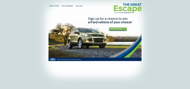 2013fordescapetour.com – 2012 Ford Escape Tour Sweepstakes