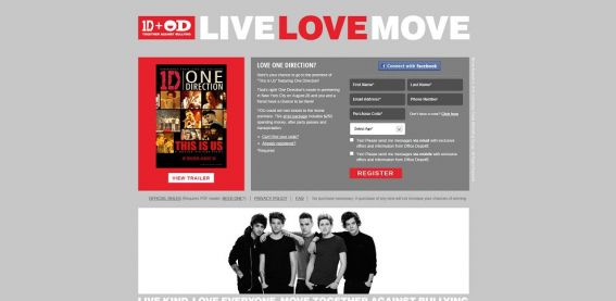 One Direction: This Is Us Movie Premiere Sweepstakes