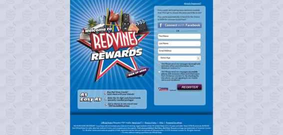 redvines.com/rewards – Red Vines Rewards Sweepstakes