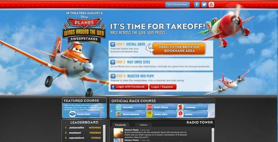 wingsaroundtheweb.com – Disney Planes WINGS AROUND THE WEB Sweepstakes