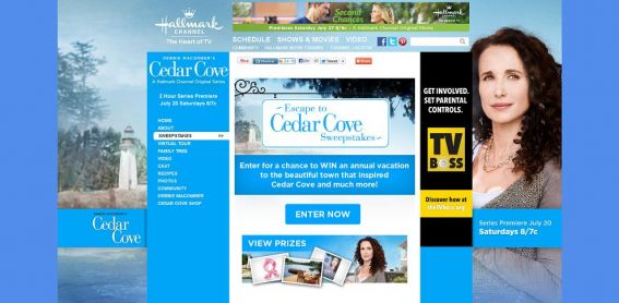 cedarcovetv.com – Hallmark Channel's Escape to Cedar Cove Sweepstakes