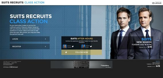 suitsrecruits.com – USA Network and Lexus Present the Suits Recruits Sweepstakes