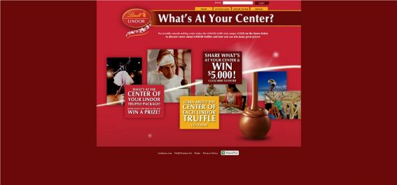 lindorcenter.com – Lindor Truffles What's At Your Center? Instant Win Game