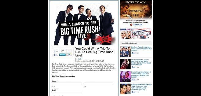 Big Time Rush Sweepstakes