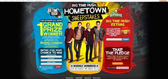 www.nick.com/CHEF – Big Time Rush Hometown Sweepstakes