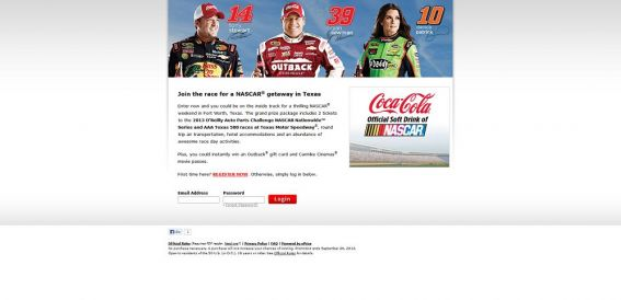 2013 Coca-Cola Race to Texas Sweepstakes