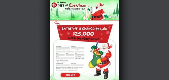 25daysofchristmassweepstakes.com – 25 Days of Christmas Sweepstakes