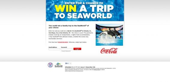 2013 SeaWorld Sweepstakes