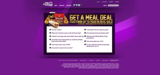 Taco Bell Gold Hunter Instant-Win Game