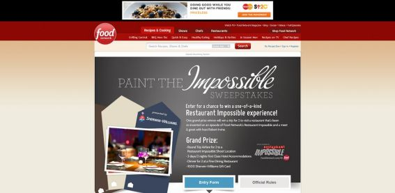 foodnetwork.com/paint – Paint the Impossible Sweepstakes