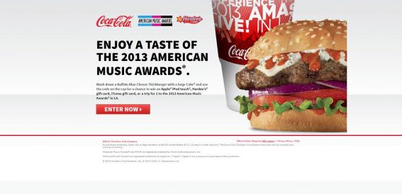 hardees.com/cokesweeps – Hardee's & Carl's Jr. Sweepstakes & Instant Win