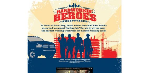 strongeras1.com – Bosch Hard Workin Heroes Sweepstakes