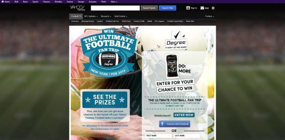 degreefootball.com – Win the Ultimate Football Fan Trip Promotion