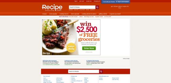 Recipe.com $2,500 Grocery Sweepstakes