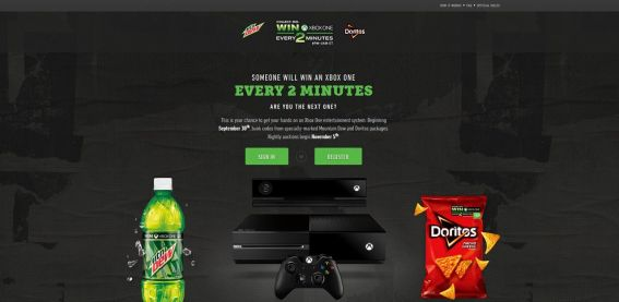 every2minutes.com – Mtn Dew Game Fuel Doritos Xbox One Every Two Minutes Promotion
