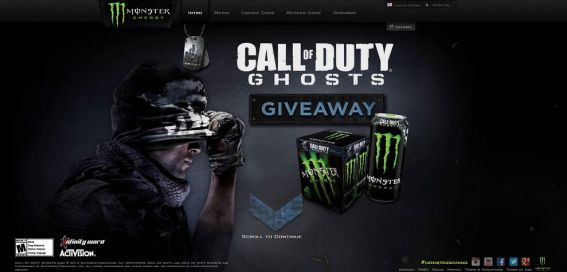 monsterenergy.com/cod – Monster Energy Call of Duty: Ghosts Sweepstakes