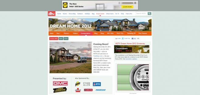 2012 HGTV Dream Home Giveaway