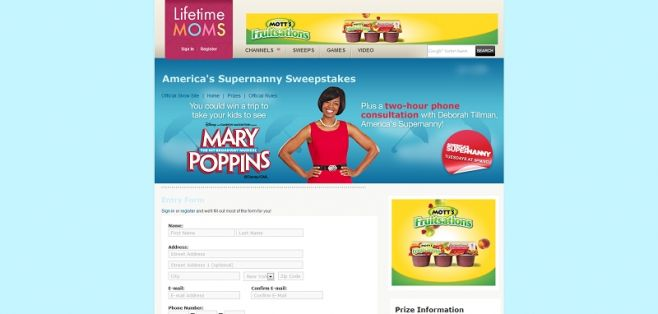 America's Supernanny Sweepstakes