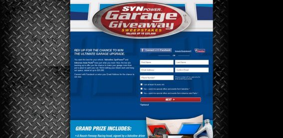Synpower Garage Giveaway Sweepstakes