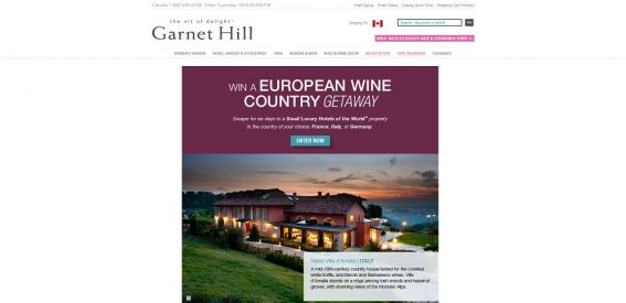 Garnet Hill Wine Country Sweepstakes