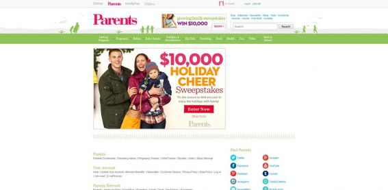 Parents.com $10,000 Holiday Sweepstakes
