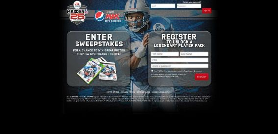 Pepsi Max Madden Legends Sweepstakes