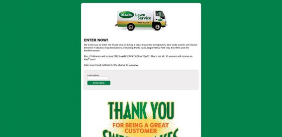 Scotts LawnService Sweepstakes