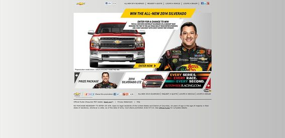 winthenewsilverado.com &#8211; Win The New Silverado Racing Promotion