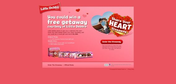 littledebbievalentines.com – Little Debbie Share Your Heart Giveaway