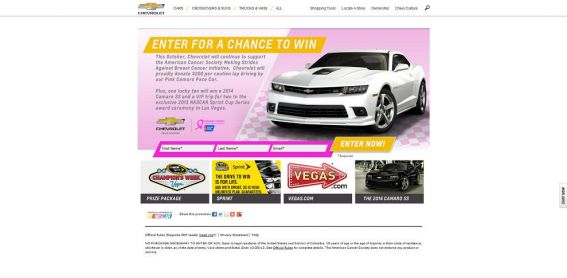 winyourchevy.com – Win the 2014 Camaro SS Sweepstakes