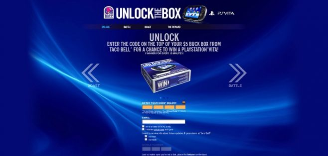 unlock.tacobell.com – Taco Bell Unlock the Box Promotion