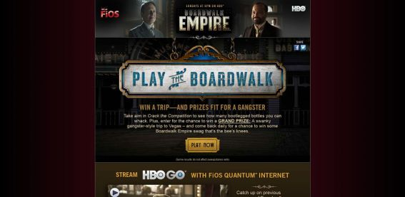 playtheboardwalk.com – Verizon & HBO Play The Boardwalk Sweepstakes and Instant Win Game