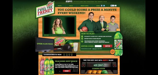 espn.com/dietdew – Diet DEW Fuel the Frenzy Sweepstakes