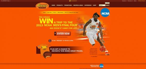 REESE'S/NCAA March Madness: The Perfect Pick Promotion