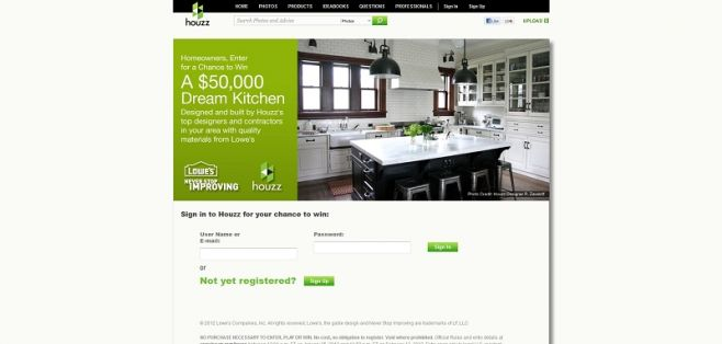 Lowe's $50,000 Dream Kitchen Sweepstakes