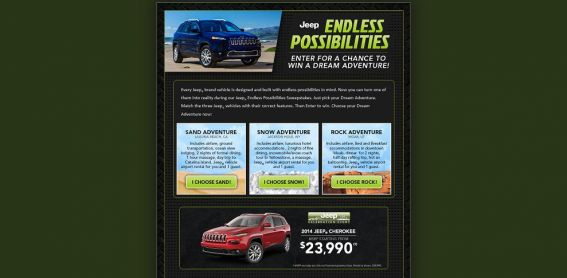 Jeep Endless Possibilities Sweepstakes