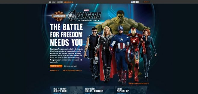h-d.com/avengers – Assemble Your Freedom Contest
