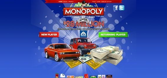 playmonopolycodes.us – Albertsons Monopoly Collect and Win Game