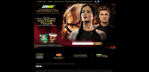 catchingfire.subway.com – Subway Hunger Game Catching Fire